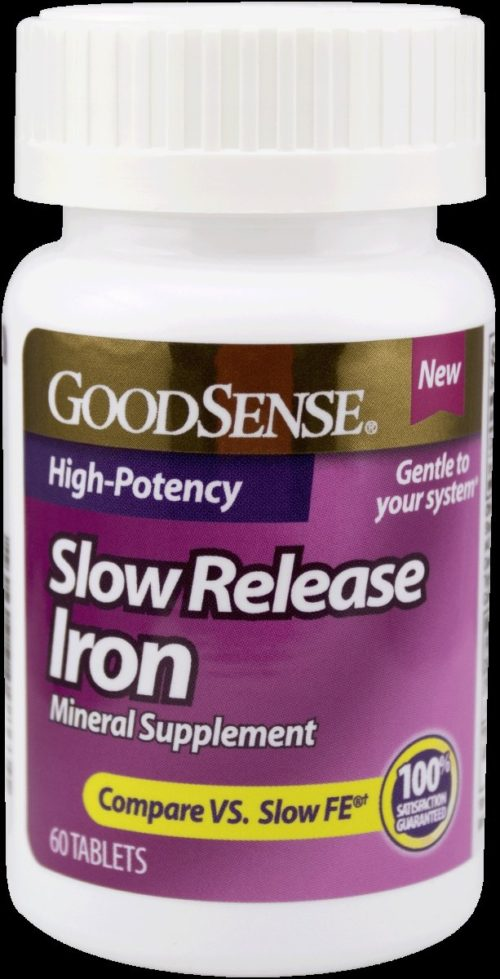 Good Sense 1902423 45 mg Iron Mineral Supplement Slow Release Tablets, 60 Count
