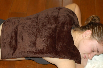 HCBACK-Dark Chocolate Herbal Comfort Back Wrap