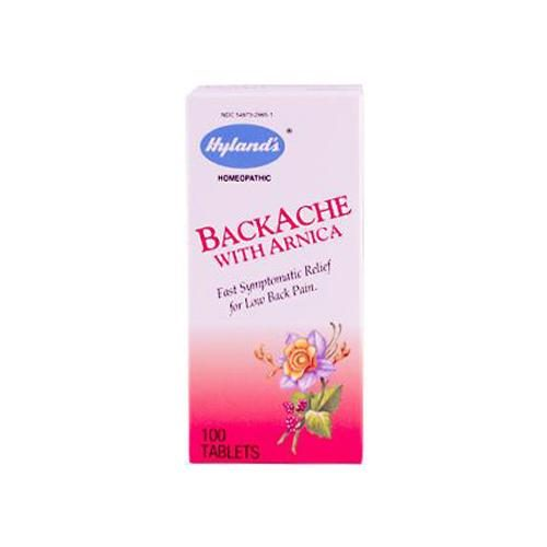 HG0105130 Backache with Arnica, 100 Tablets