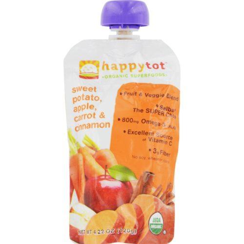 HG0209312 4.22 oz Happytot Organic Superfoods Sweet Potato Apple Carrot & Cinnamon, Case of 16