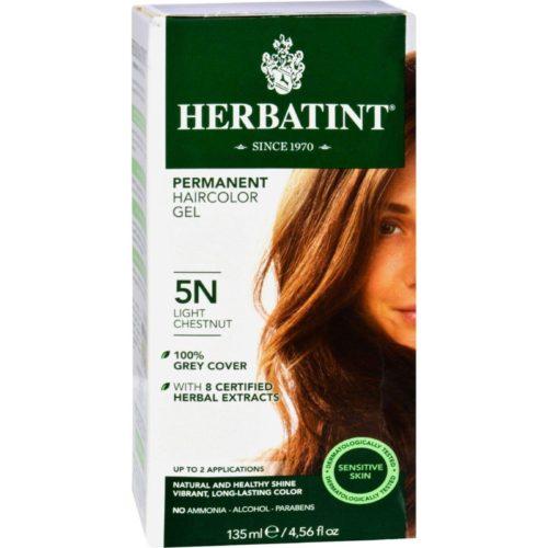 HG0226662 135 ml Permanent Herbal Haircolor Gel, 5N Light Chestnut