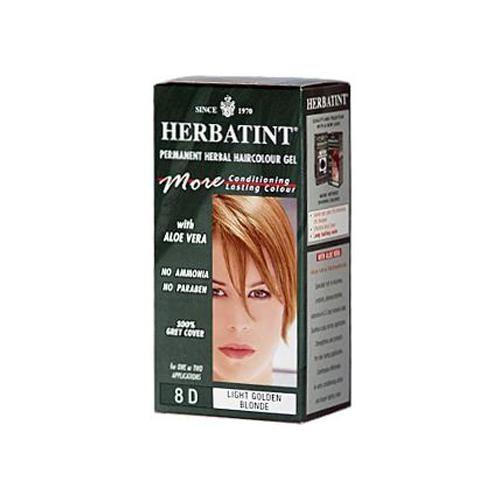 HG0226837 135 ml Permanent Herbal Haircolor Gel, 8D Light Golden Blonde