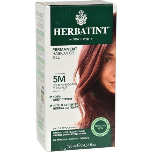 HG0226860 135 ml Permanent Herbal Haircolor Gel, 5M Light Mahogany Chestnut
