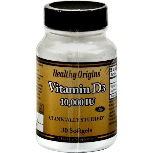 HG0242180 Vitamin D3 - 10000 Iu, 30 Softgels