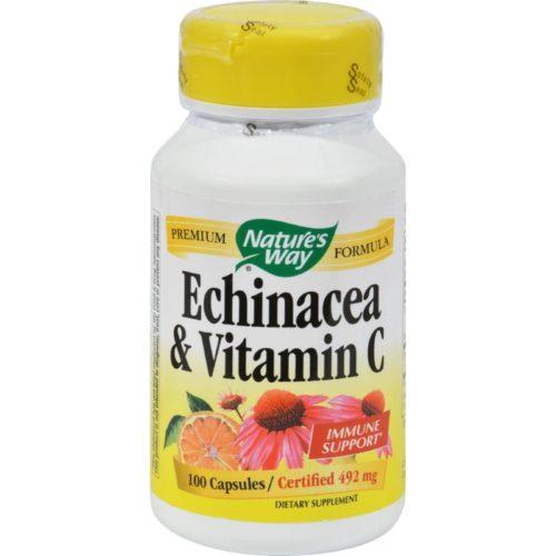 HG0298208 492 mg Echinacea & Vitamin C, 100 Capsules