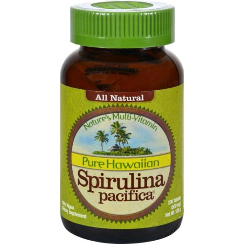 HG0338566 500 mg Pure Hawaiian Spirulina Pacifica - 200 Tablets