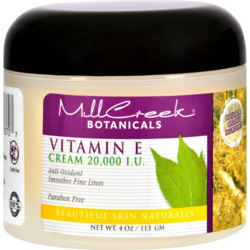 HG0352096 4 oz Botanicals Vitamin E Cream - 20000 IU