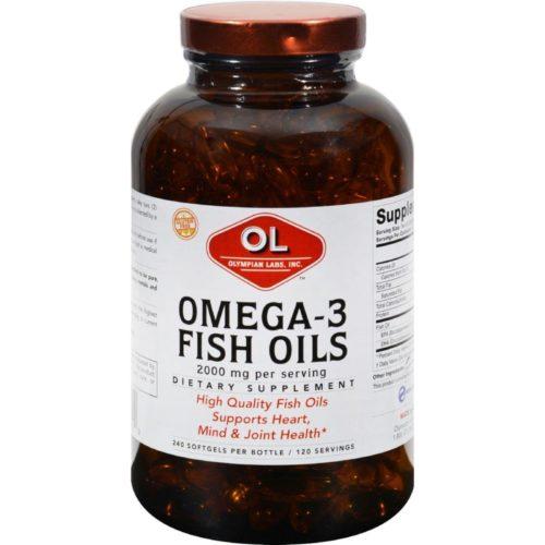 HG0383299 1 g Omega-3 Fish Oils - 240 Softgels