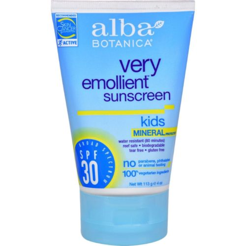 HG0401521 4 oz Very Emollient Natural Sun Block Mineral Protection Kids SPF 30