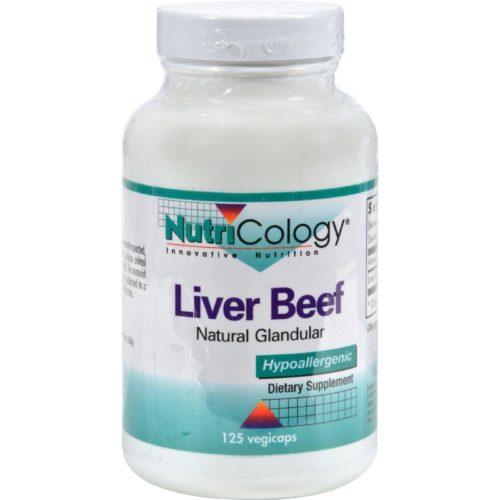HG0524512 Liver Organic Glandular - 125 Vegetarian Capsules