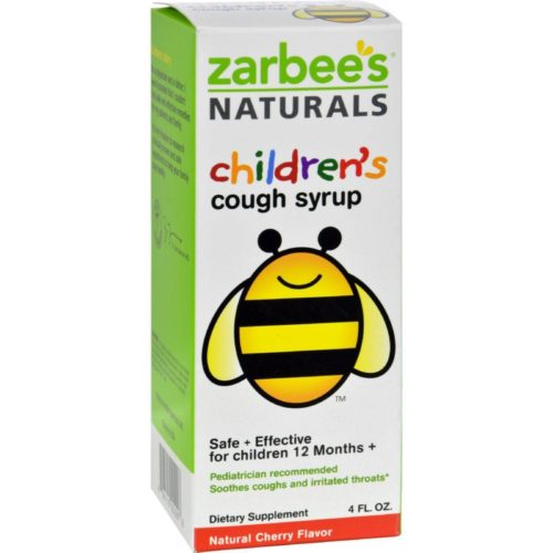 HG0574335 4 oz All-Natural Childrens Cough Syrup 12 Months Plus - Natural Cherry Flavor