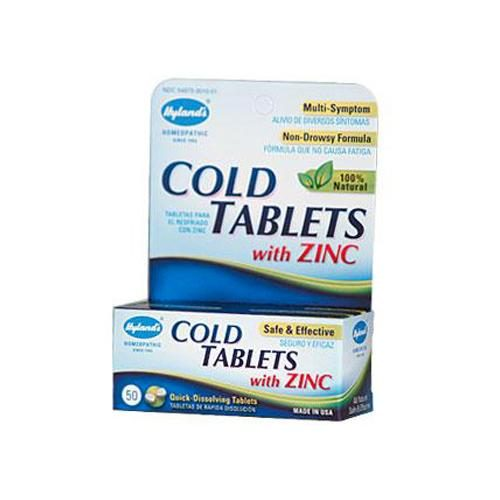 HG0583989 Cold Tablets With Zinc - 50 Quick Disolving Tablet