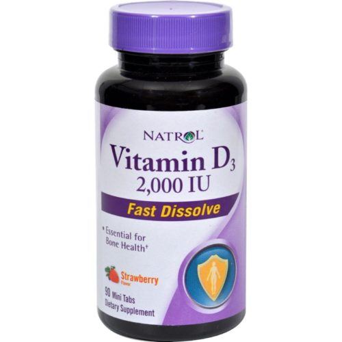 HG0611806 Vitamin D3 Wild Cherry, 2000 IU - 90 Mini Tablets