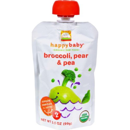 HG0700997 3.5 oz Broccoli Peas & Pears Organic Baby Food - Stage 2, Case of 16