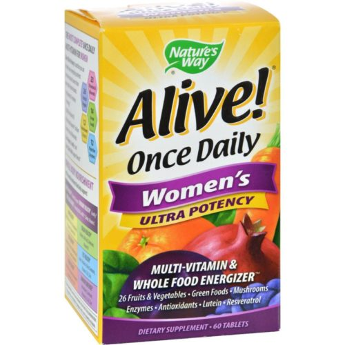 HG0726547 Alive Once Daily Womens Multi-Vitamin Ultra Potency - 60 Tablets