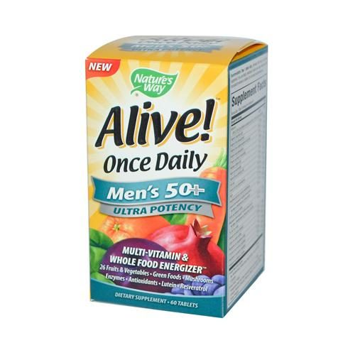 HG0726562 Alive Once Daily Mens 50 Plus Multi-Vitamin - 60 Tablets