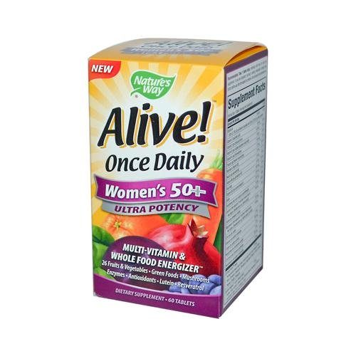HG0726588 Alive Once Daily Womens 50 Plus - 60 Tablets