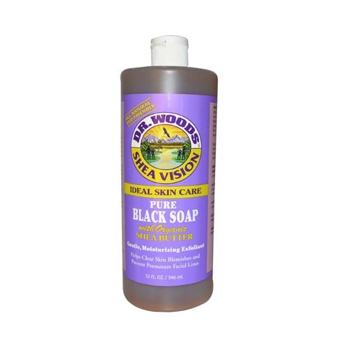 HG0771519 32 fl oz Shea Vision Pure Black Soap with Organic Shea Butter
