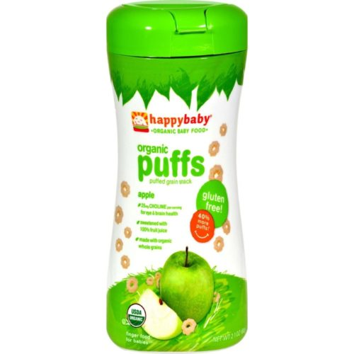 HG0818161 2.1 oz Organic Puffs - Apple, Case of 6