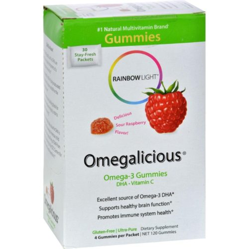 HG0826016 Gummy Omegalicious Omega 3 Formula Sour Raspberry - 30 Packets