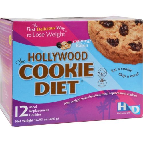 HG0885376 Miracle Products Hollywood Cookie Diet Meal Replacement Cookie Oatmeal - 12 Cookies