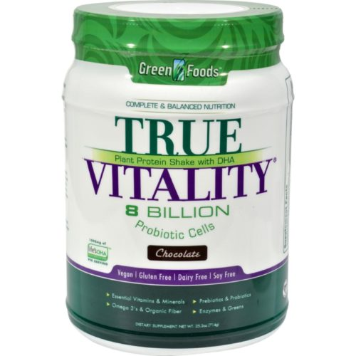 HG0928333 25.2 oz True Vitality Plant Protein Shake with Dha Chocolate