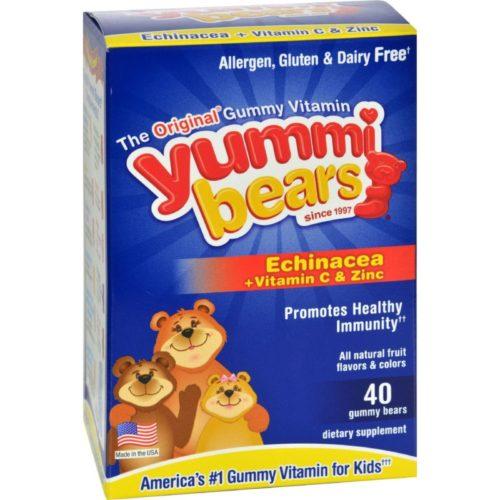 HG0943266 Yummi Bears Echinacea Plus Vitamin C & Zinc - 40 Chewables