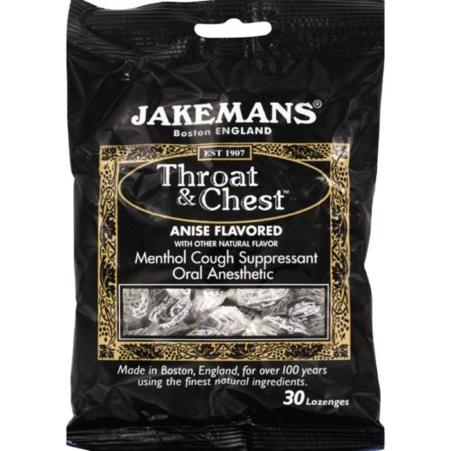 HG0964353 Throat & Chest Lozenges, Licorice Menthol - Case of 12, Pack of 30