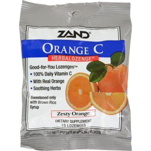 HG0978254 Herbalozenge Orange C Natural Orange, 15 Lozenges - Case of 12