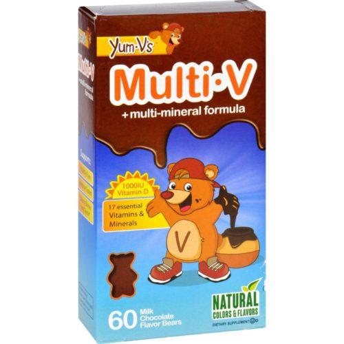 HG1137835 Multi-V Plus Multi-Mineral Formula Milk Chocolate - 60 Bears