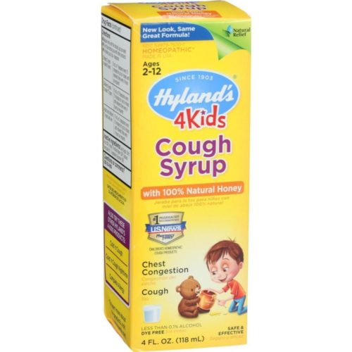 HG1150481 4 oz Homeopathic Cough Syrup with 100 Percent Natural Honey - 4 Kids