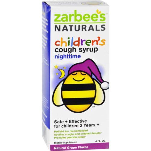 HG1272038 4 oz All Natural Childrens Nightime Cough Syrup - Grape