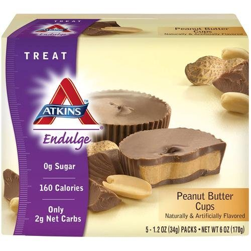 HG1272525 1.2 oz Endulge Bars Chocolate Peanut Butter Cups, 5 Count