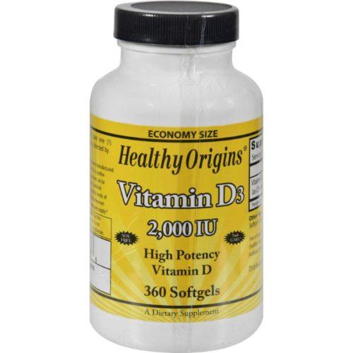 HG1510486 Vitamin D3 - 2000 Iu, 360 Softgels