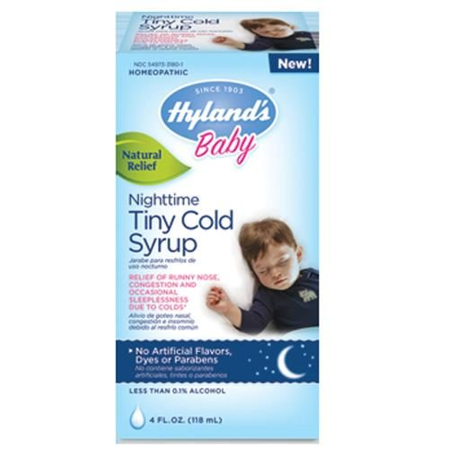 HG1560879 4 fl oz Homepathic Cold Syrup with Nighttime Tiny - Baby