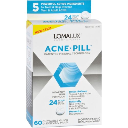 HG1730621 Acne Pill Chewable Quick Dissolving - 60 Count