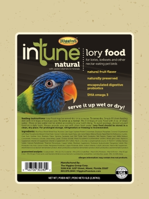 HS30280 Intune Lory Food, 5 lbs.