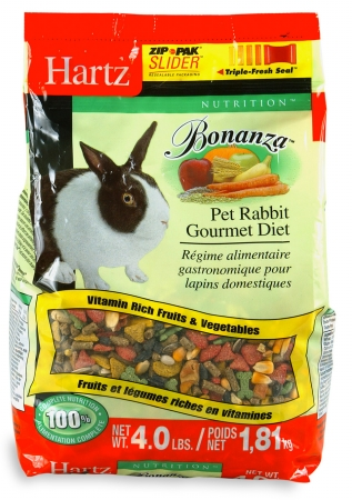 Hartz 4 Lb Nutrition Bonanza Rabbit Gourmet Diet 97613