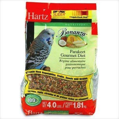 Hartz Mountain 97625 Bonanza Parakeet Diet, 4 lbs