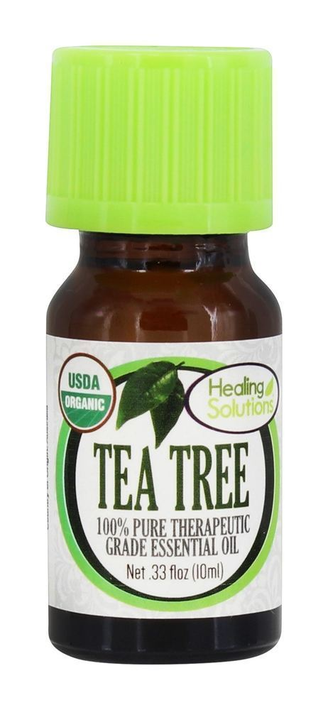 Healing Solutions 1745107 100 Percent Pure Therapeutic Grade Essential Oil Organic Tea Tree- 10 ml - Pack of 3