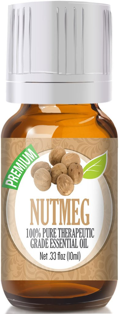 Healing Solutions 2265718 10 ml Nutmeg Essential Oil - Pack of 3