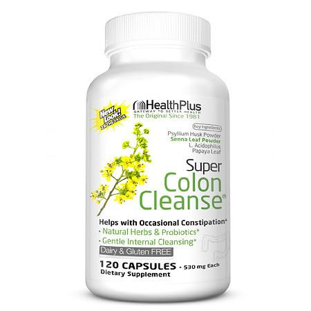 Health Plus Super Colon Cleanse Capsules - 120.0 ea