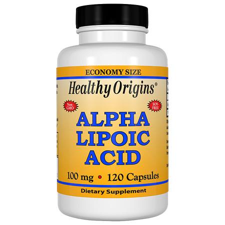 Healthy Origins Alpha Lipoic Acid 100 mg, Capsules - 120.0 ea