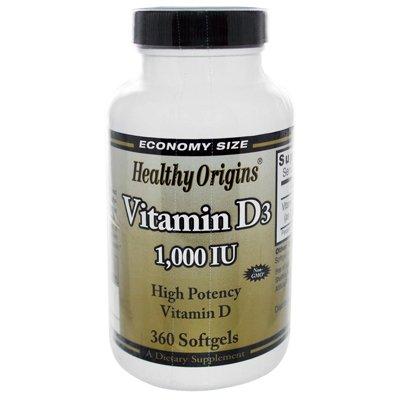 Healthy Origins Vitamin D3 - 1000 IU - 360 softgels