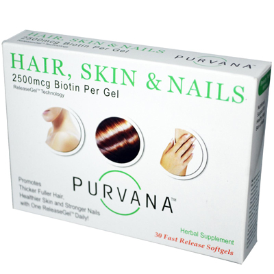 Heaven Sent Hair Skin Nails - 2500 Mcg - 30 Softgels