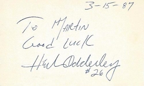Herb Adderley Signed - Autographed Green Bay Packers - Dallas Cowboys 3 x 5 in. Index Card - Hall of Fame - 3x Super Bowl Champion I, II, VI