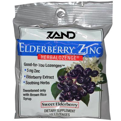 Herbal Ozenge Elderberry Zinc Sweet Elderberry - 15 L Ozenges - -Pack of 12