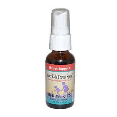 Herbs For Kids Super Kid's Throat Spray Peppermint - 1 fl oz