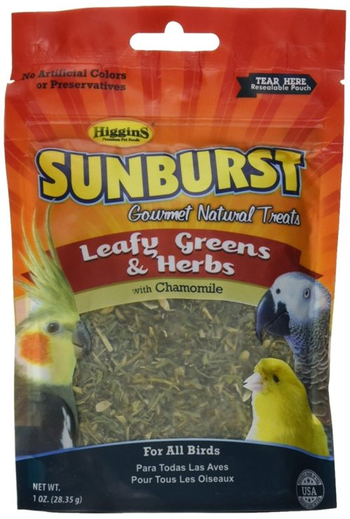 Higgin 466016 1 oz Pet Food Sunburst Treat Greens & Herbs