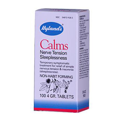 Hylands Homeopathic 0131789 Calms - 100 Tablets